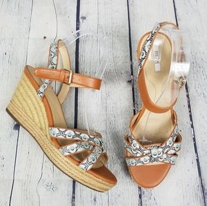 GEOX | strappy open toe espadrille wedge sandals